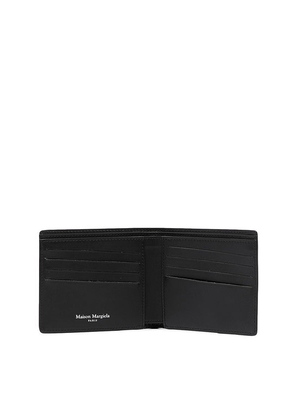 Bi-Fold Leather Wallet - Black