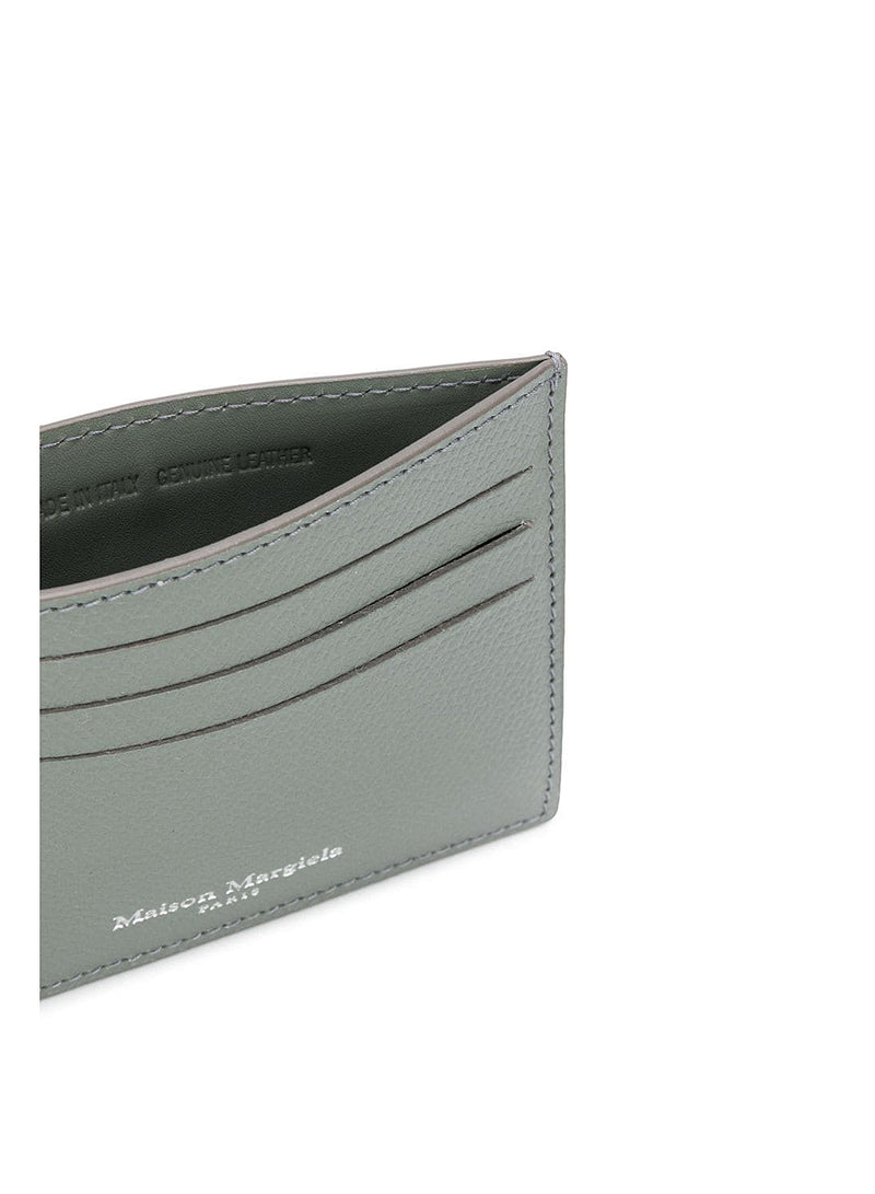 Grainy Embossed Leather Wallet - Wrought Iron