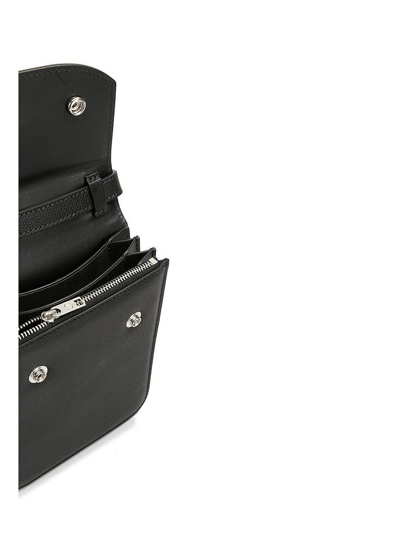 Leather Articulated Shoulder Bag - Black