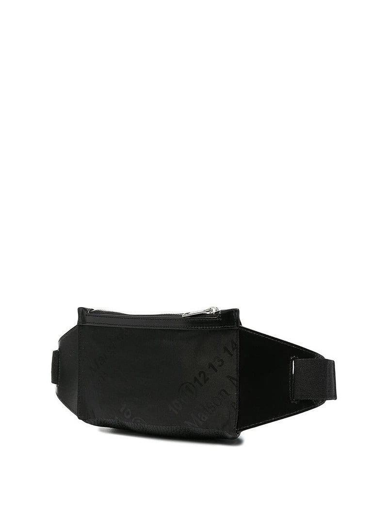 Leather Zip Cross Body Bag - Black