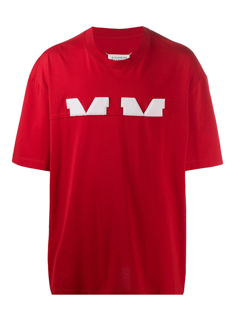 maison margiela mako cotton jersey tee red aw 2020