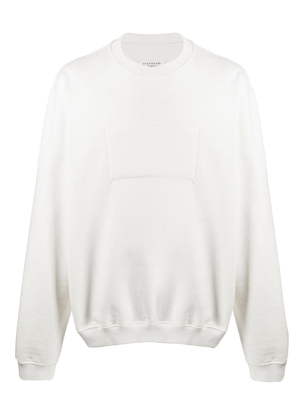maison margiela reverse label sweatshirt off white ss 2020