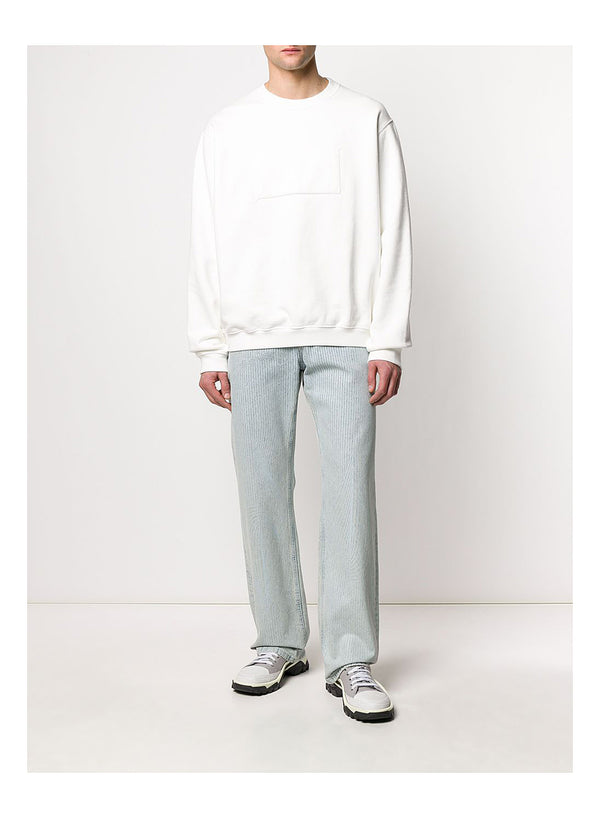 Reverse Label Sweatshirt  - Off White