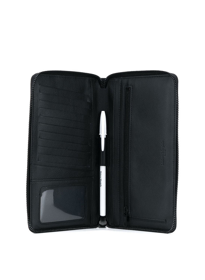 Sustainable Leather Zip Wallet - Black
