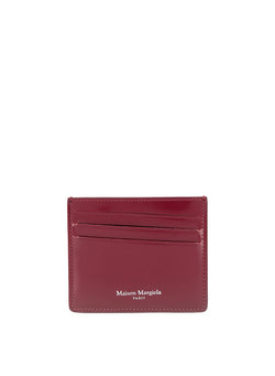 maison margiela vacchetta leather wallet cordovan red aw 2020