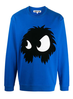 mcq by alexander mcqueen monster sweat skate blue aw 2020