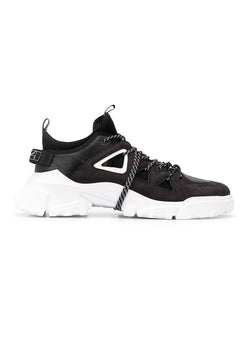 mcq by alexander mcqueen orbyt mid trainer black white ss 2020