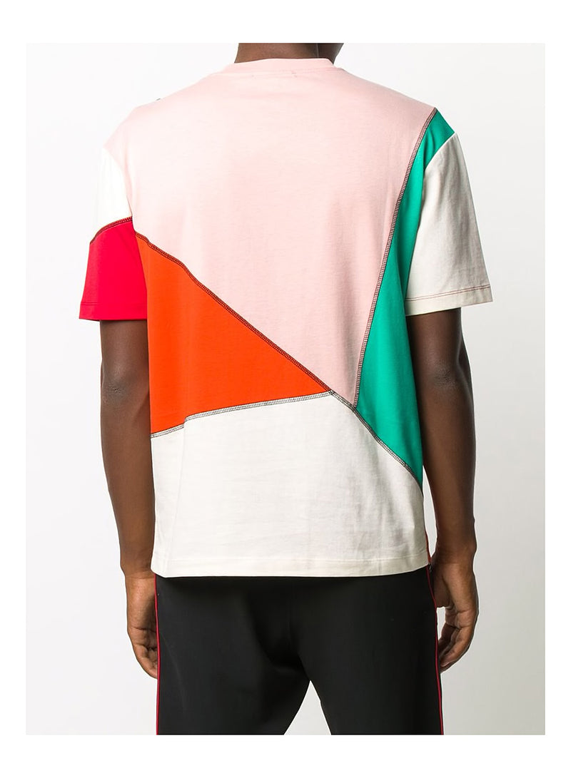 Seamed Big Crew Neck Tee - Cameo Pink/Red