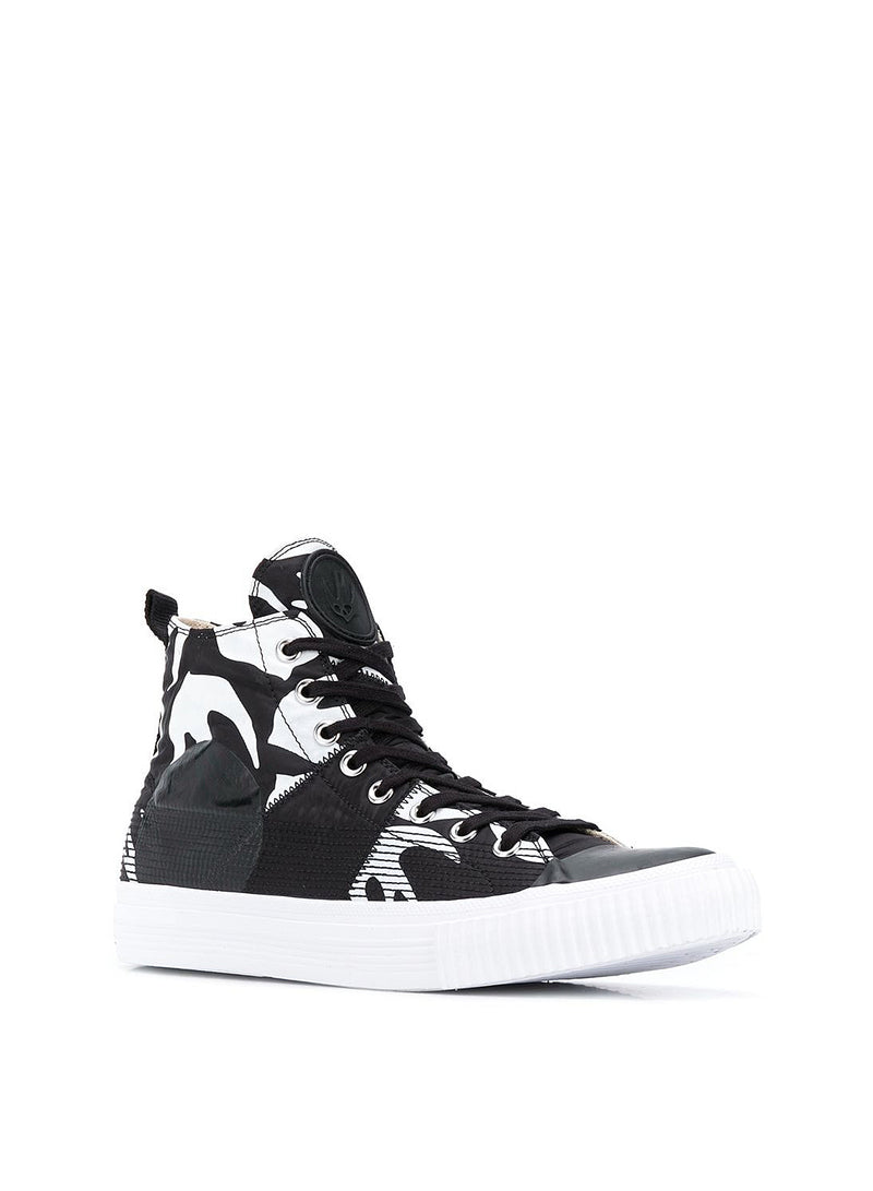 Swallow Hi Cut Up Trainer - Black/White
