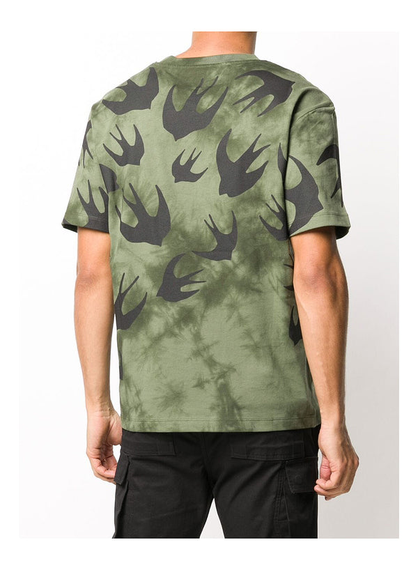 Swallow Tye Dye Tee - Military Khaki
