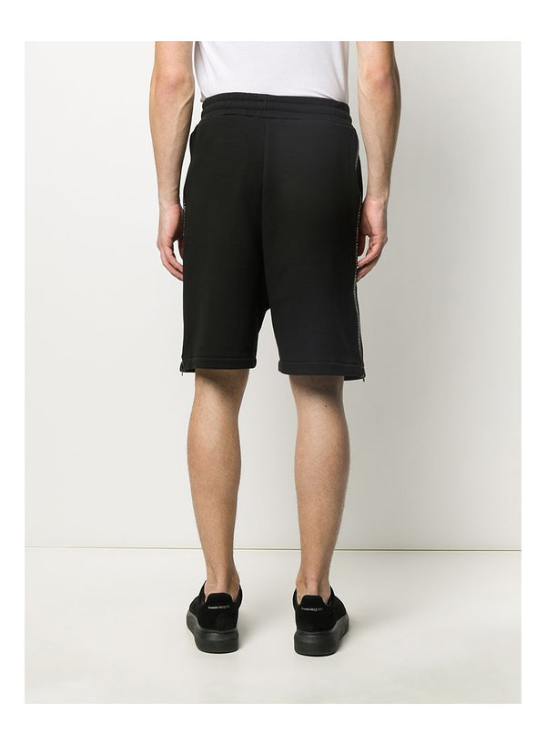 Taped Sweatshorts - Darkest Black