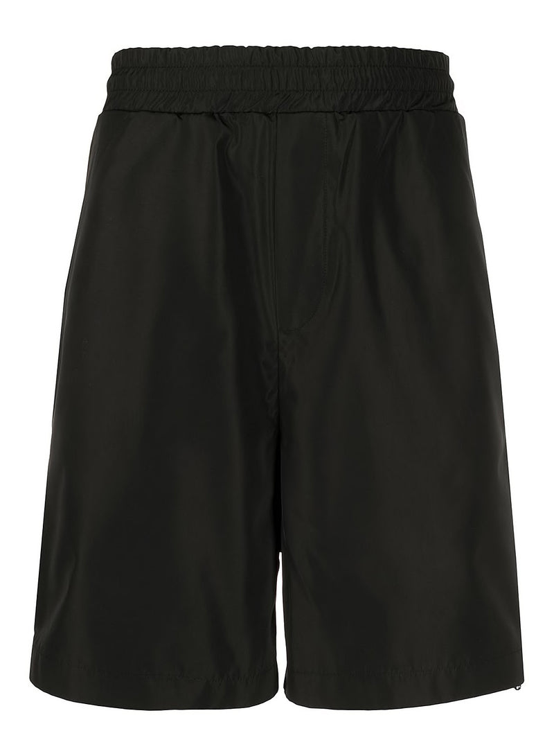 mcq by alexander mcqueen zippy sweat shorts darkest black aw 2020
