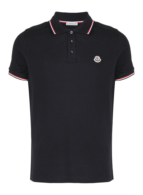 moncler clasic maglia polo shirt navy ss 2021