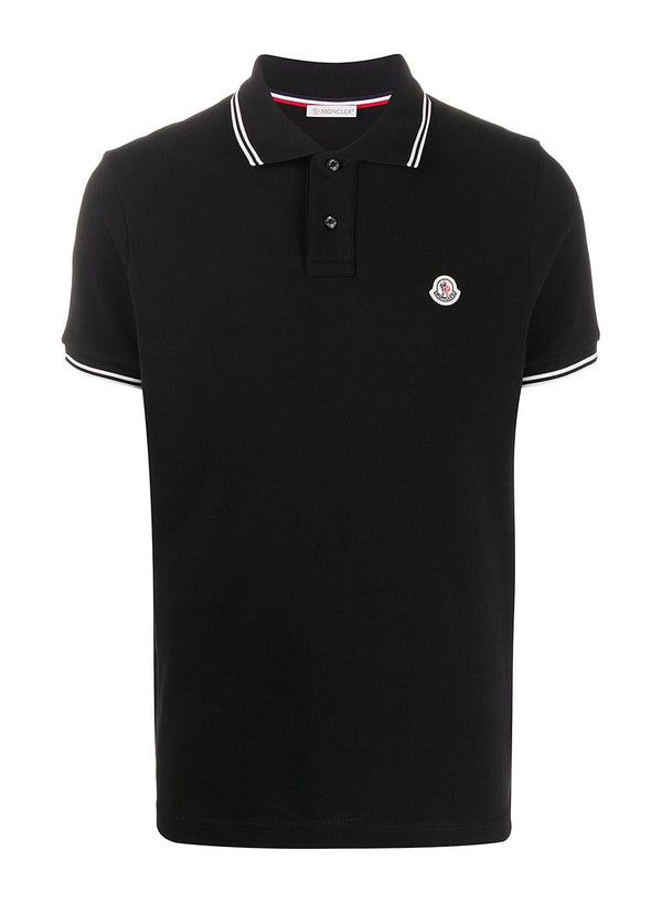 moncler classic maglia polo shirt black ss 2021