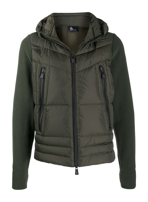 moncler grenoble hooded fleece down jacket green aw 2020