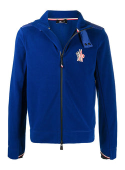 moncler grenoble maglia cardigan fleece royal blue aw 2020
