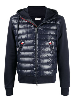 moncler maglia cardigan hoodie navy ss 2021