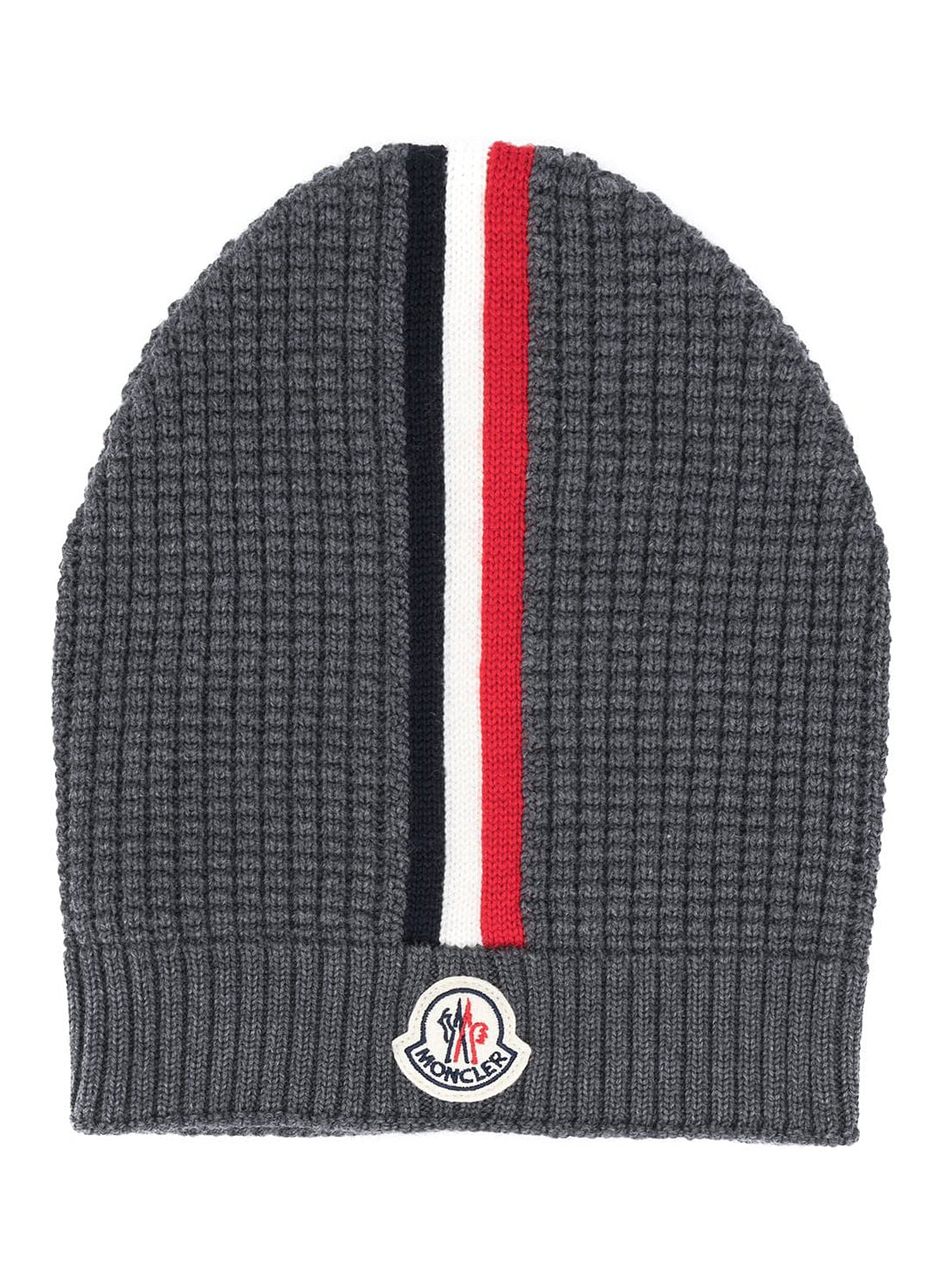 Vertical Tricolor Beanie - Grey