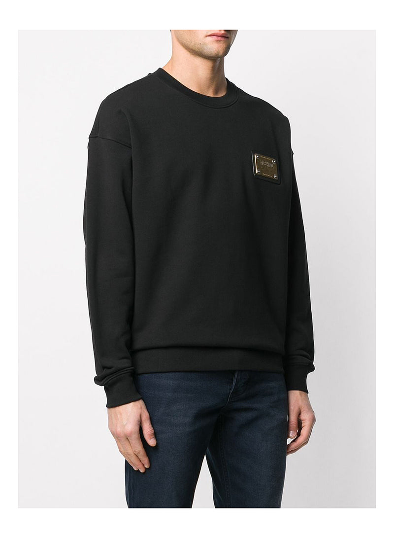 Metal Plaque Logo Sweat - Black
