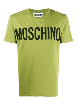 moschino classic logo tee fantasy print green aw 2020