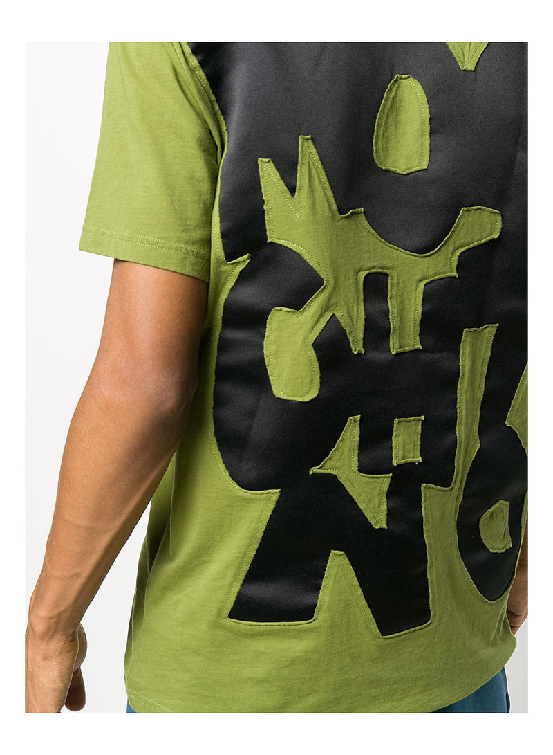 Cut and Sew Tee - Fantasy Print Green