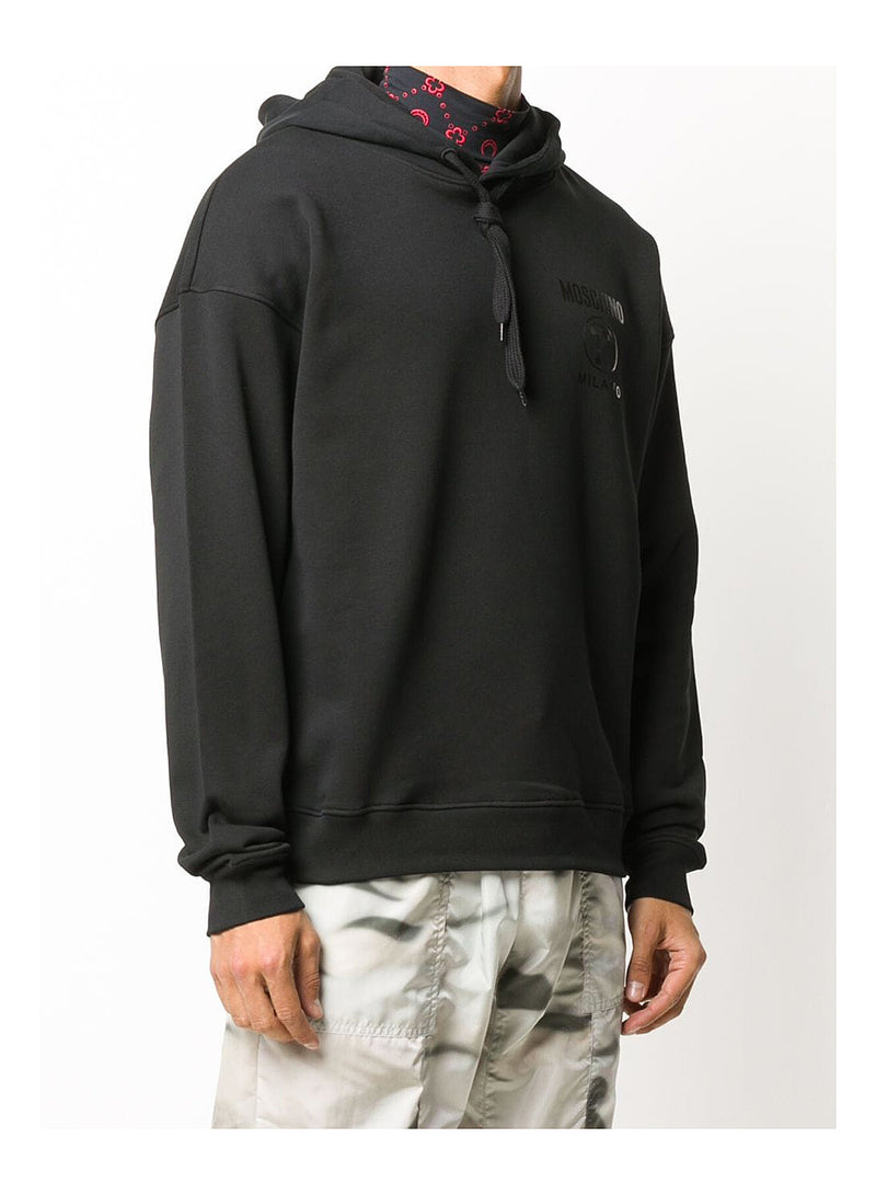 Double Question Mark Logo Hoodie  - Black
