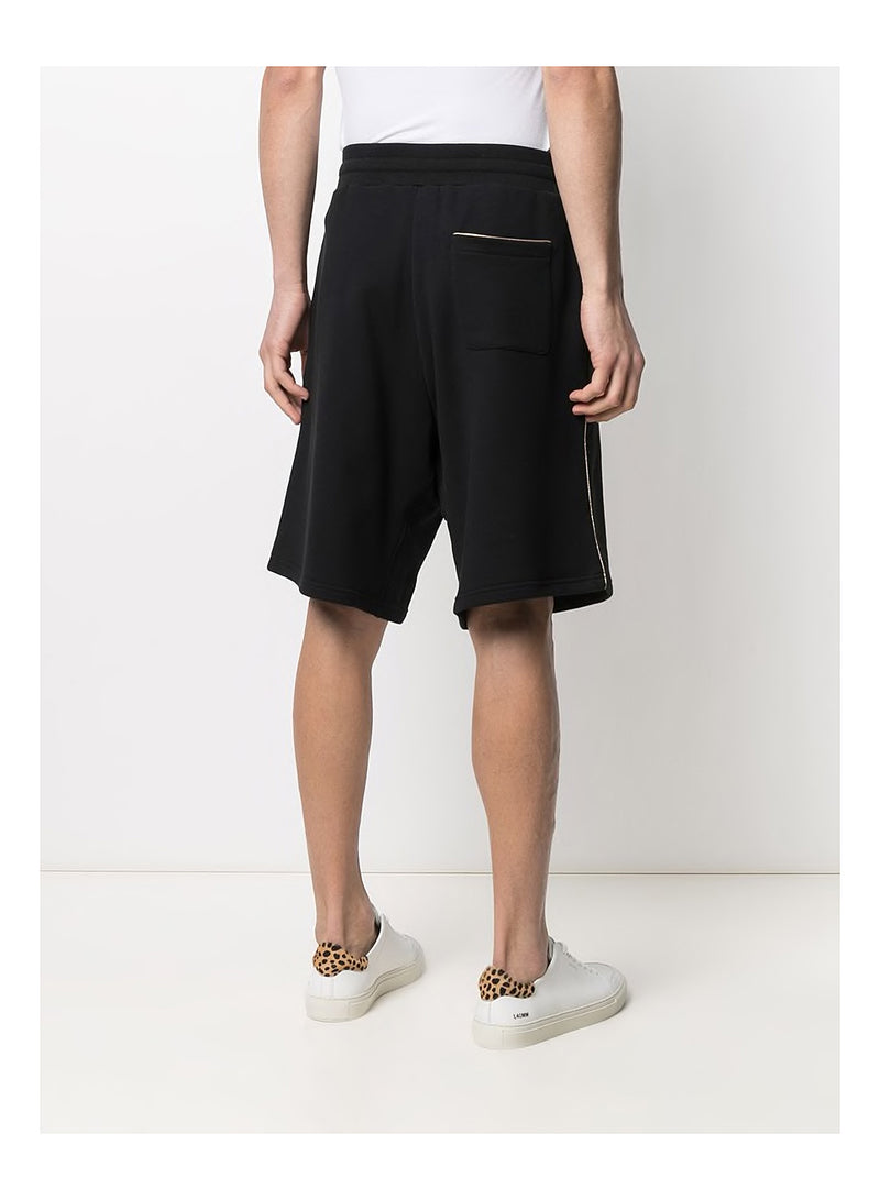 Gold Question Mark Shorts - Black