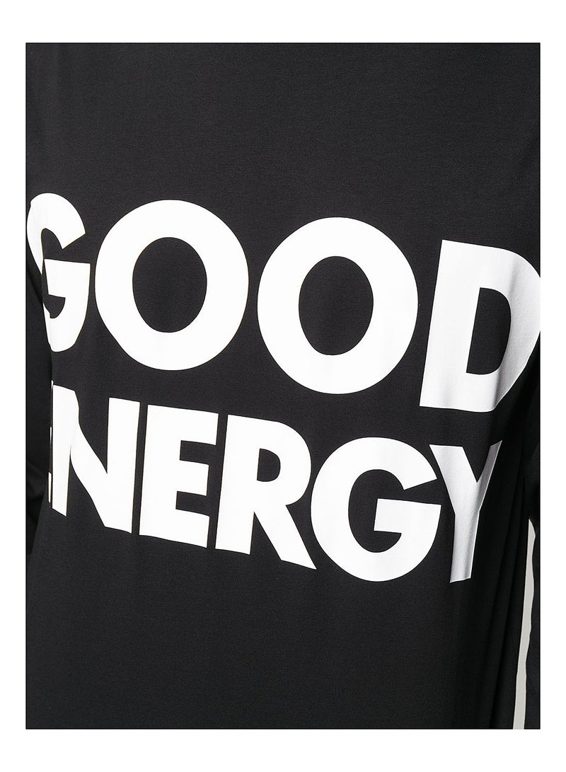 Good Energy Long Sleeve Tee - Fantasy Print Black