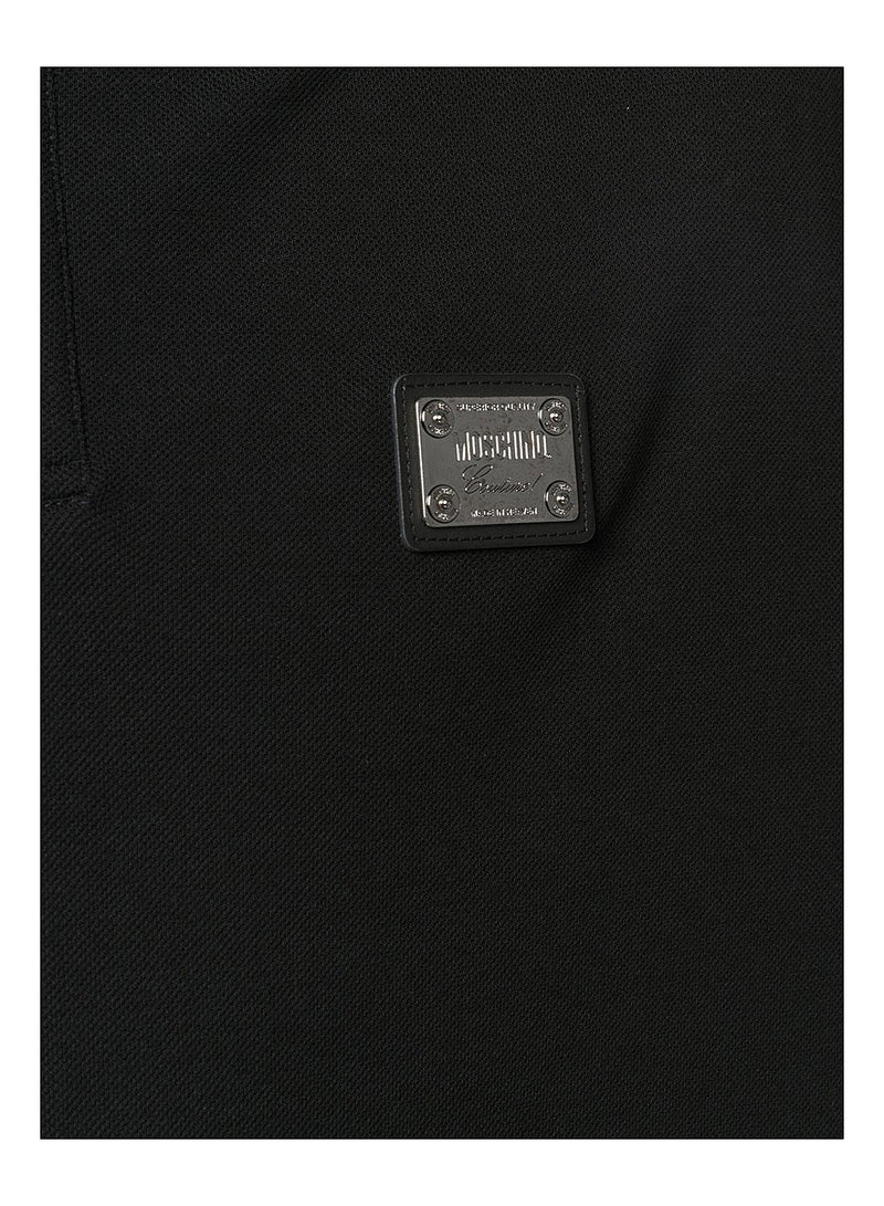 Plaque Logo Polo Shirt - Black