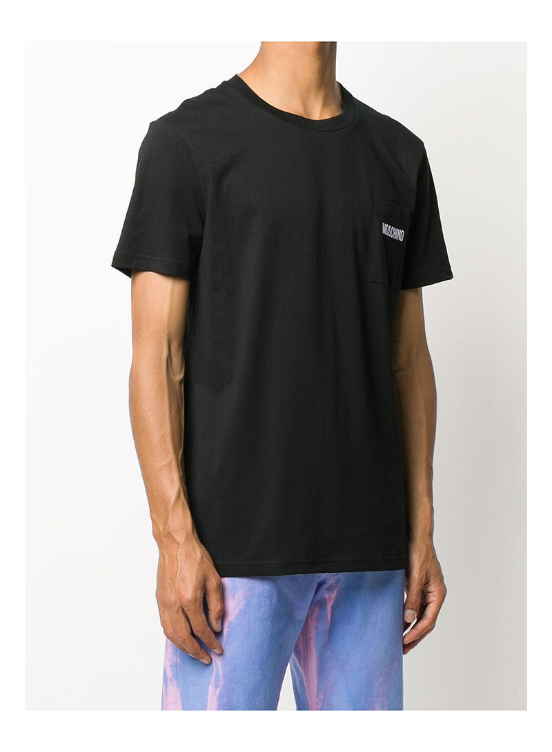 Pocket Tee - Fantasy Print Black