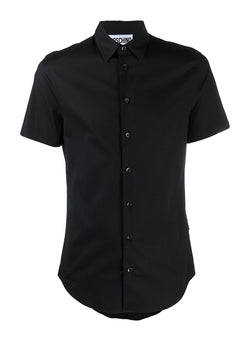 moschino short sleeve slim fit shirt black aw 2020