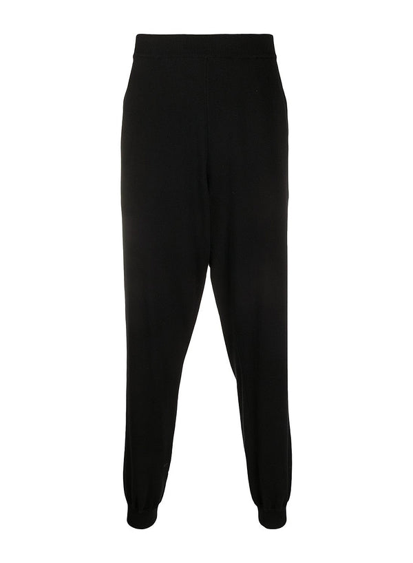 moschino teddy pocket knitted trackpant black aw 2020