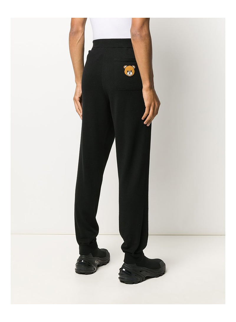Teddy Pocket Knitted Trackpant - Black