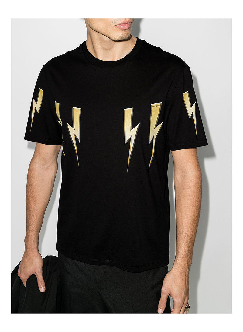 Gold Bolt Tee - Black/Gold