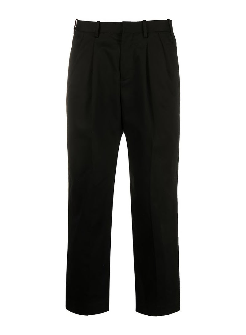 neil barrett 2 pleats wide leg trouser black ss 2020