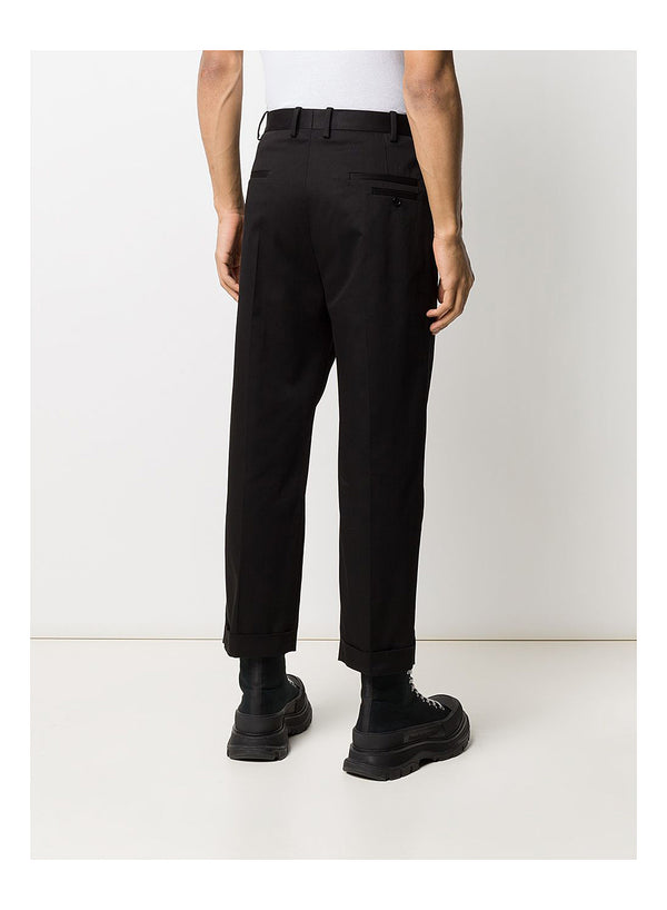 2 Pleats Wide Leg Trouser - Black