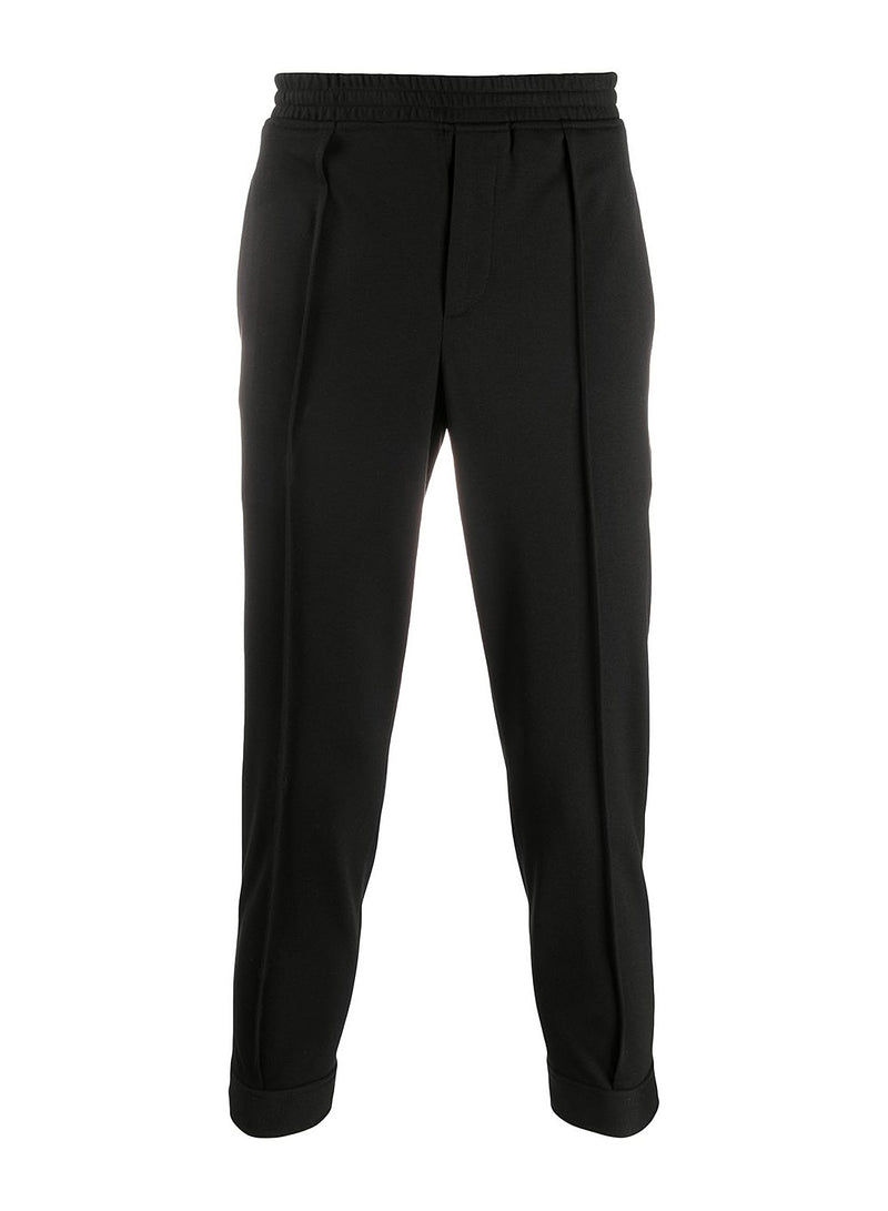 Elastic Waistband Trouser - Black