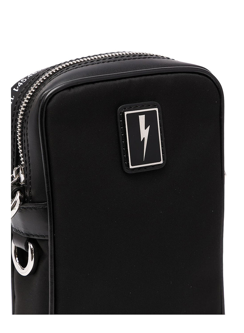 Enamel Badge Flight Bag - Black
