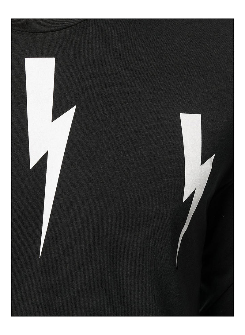 Halo Bolts Long Sleeve Tee - Black/White