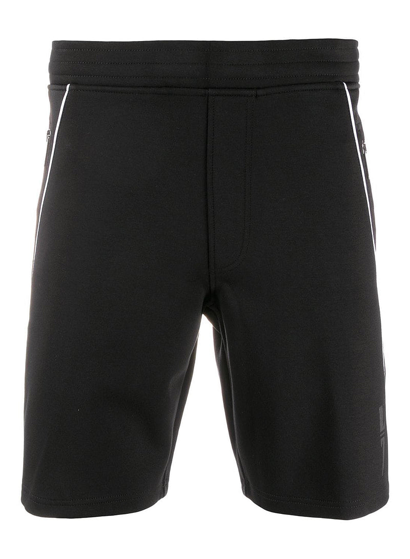 neil barrett modernist sweatshort black white aw 2020