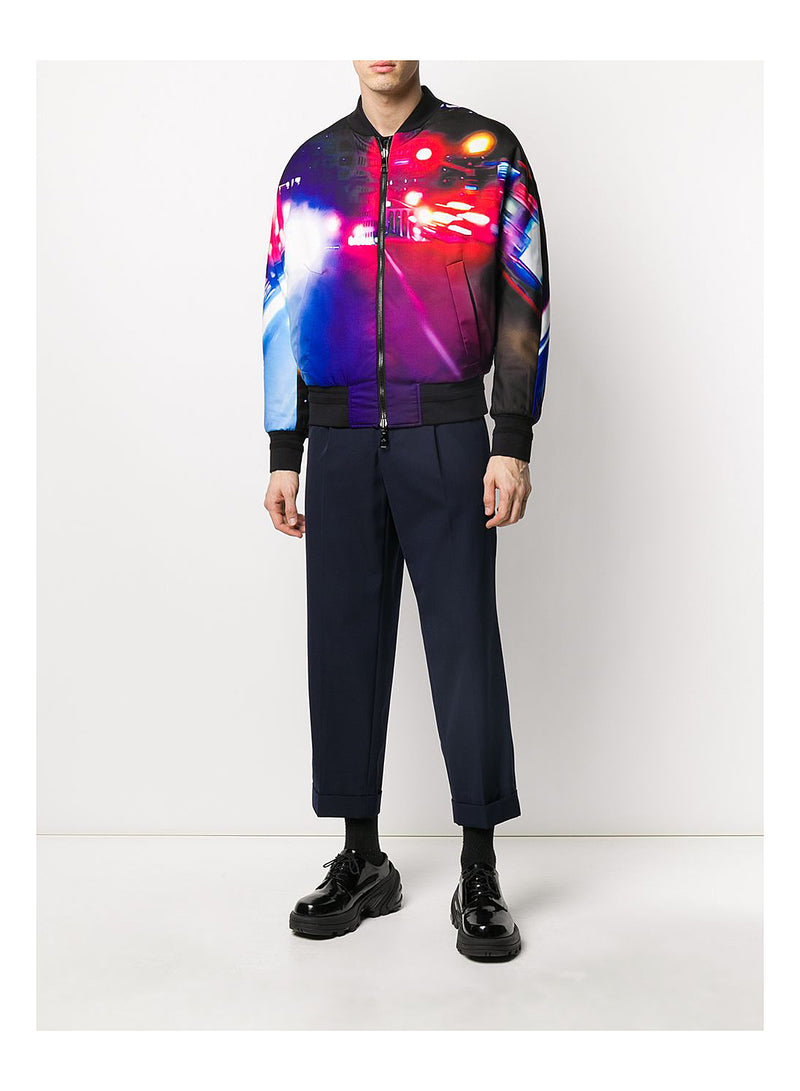 Reversible Graffiti Bomber Jacket  - Black