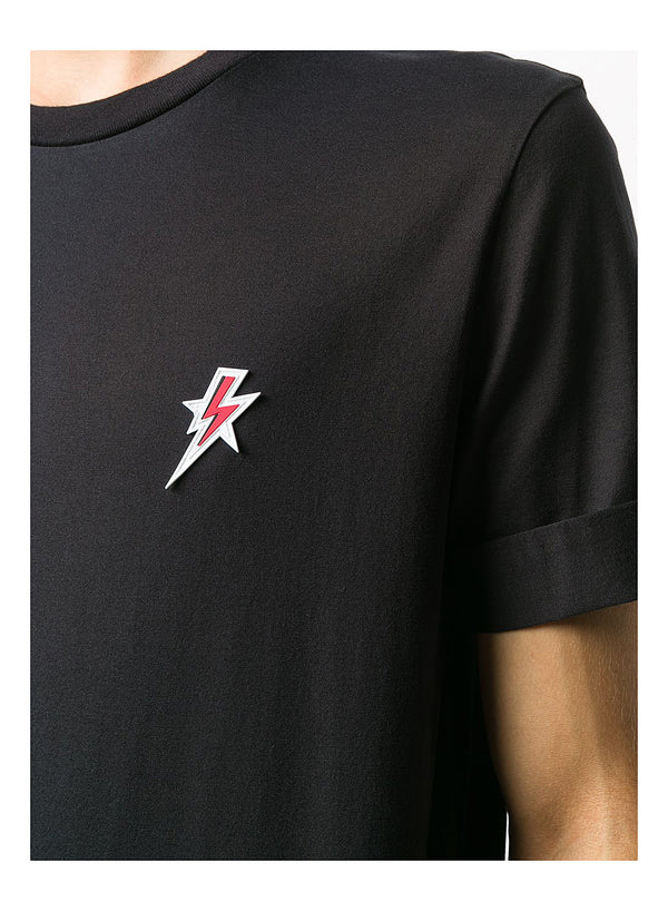 Star Bolt Badge Tee - Black/Red