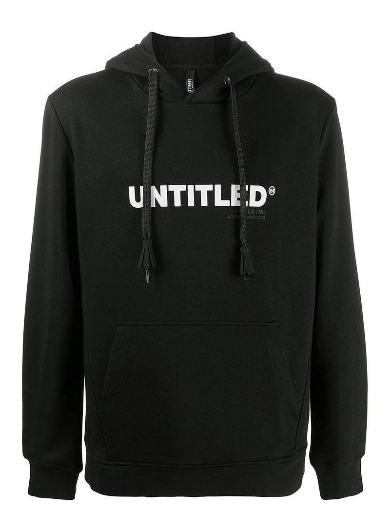 neil barrett untitled hoodie black white aw 2020