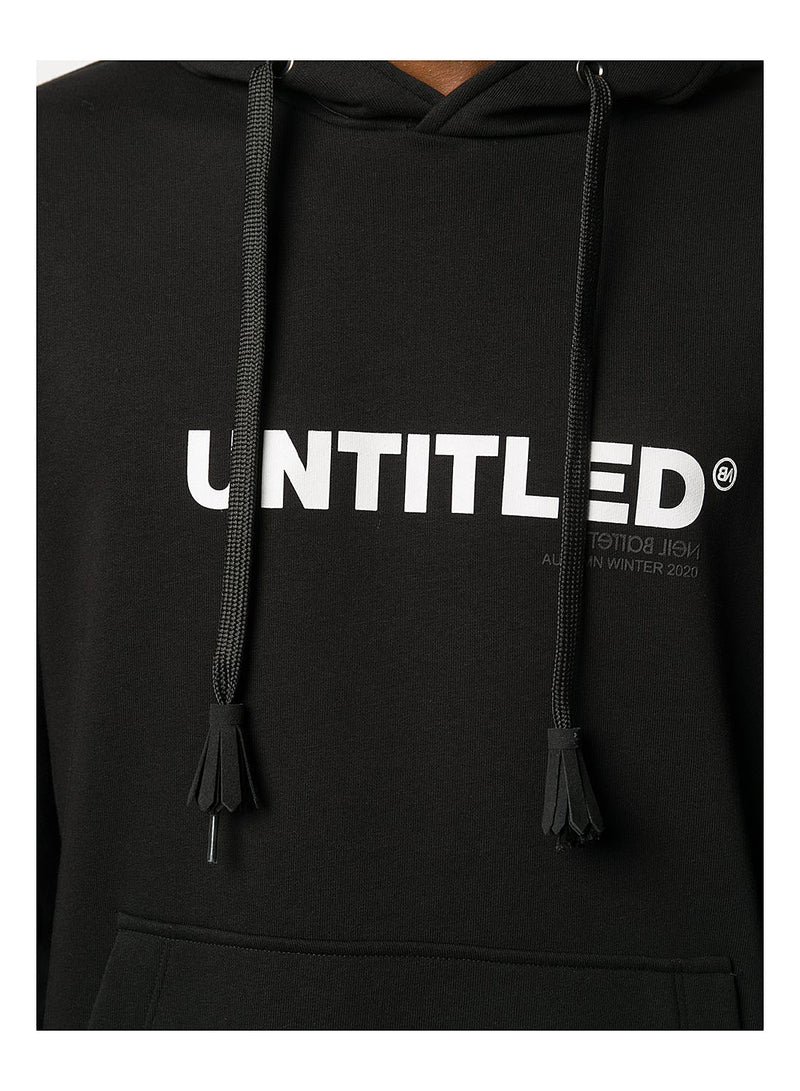 Untitled Hoodie - Black/White