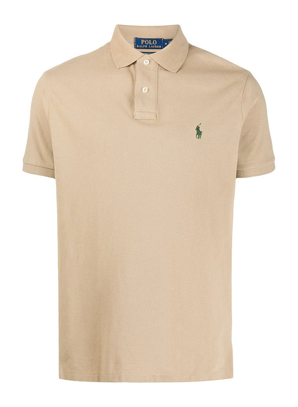 ralph lauren polo classic logo polo shirt brown aw 2020