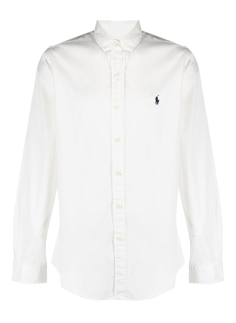 ralph lauren polo classic long sleeve shirt white ss 2021