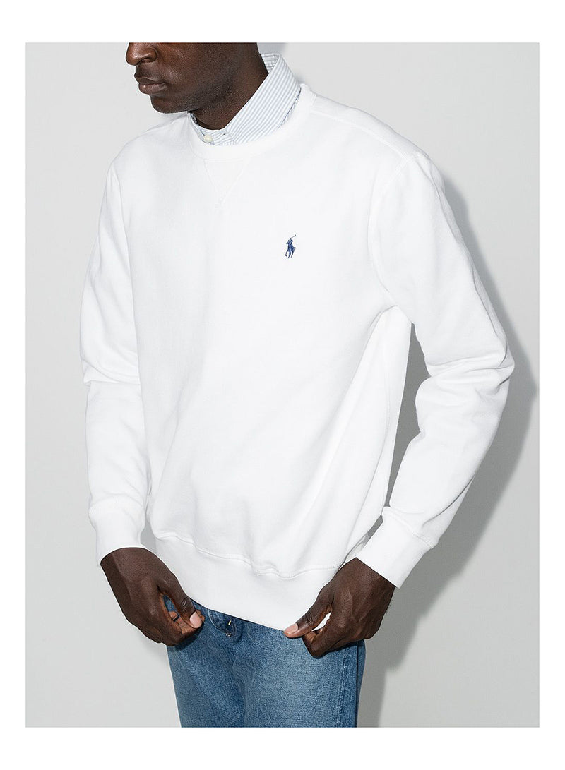 Classic Polo Sweat - White