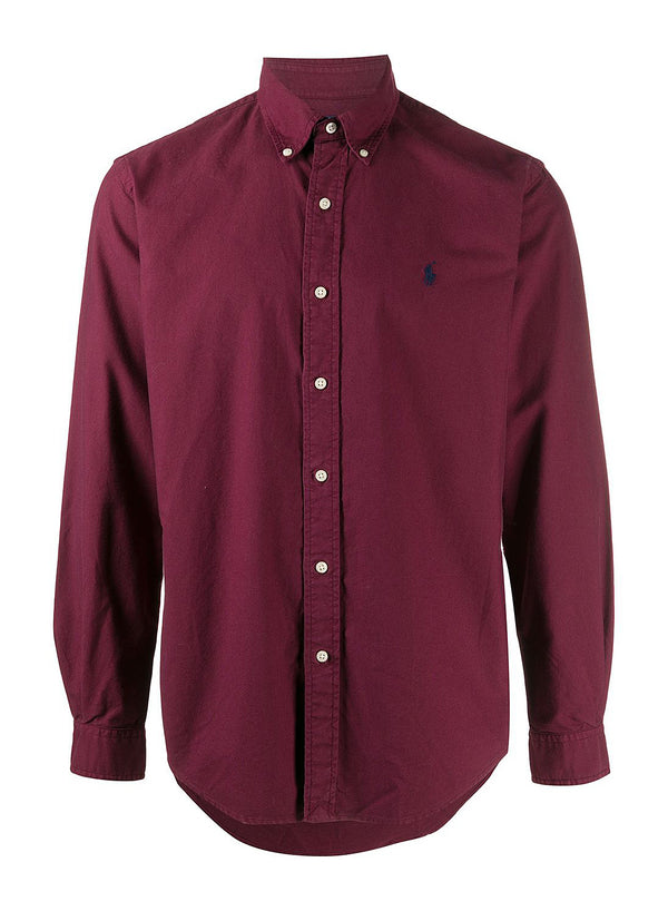 ralph lauren polo long sleeve sports shirt classic wine aw 2020
