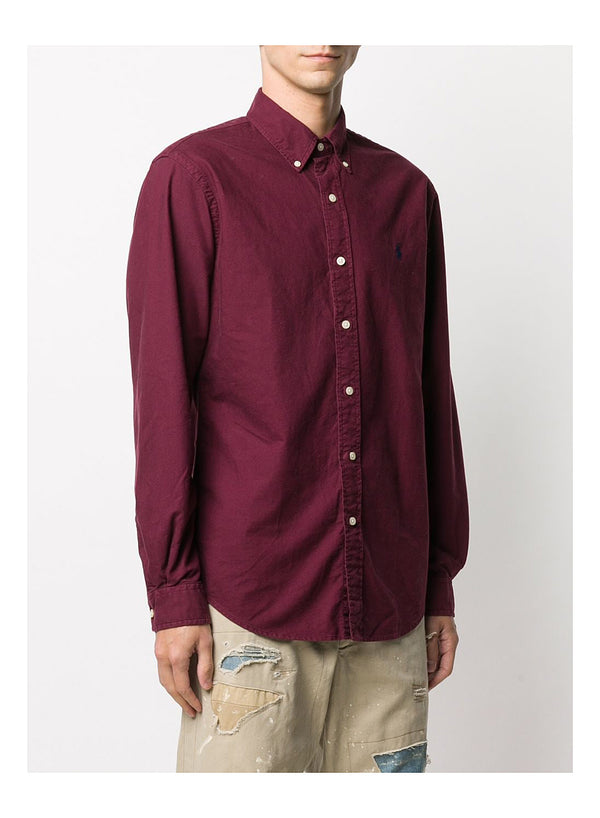 Long Sleeve Sports Shirt - Classic Wine