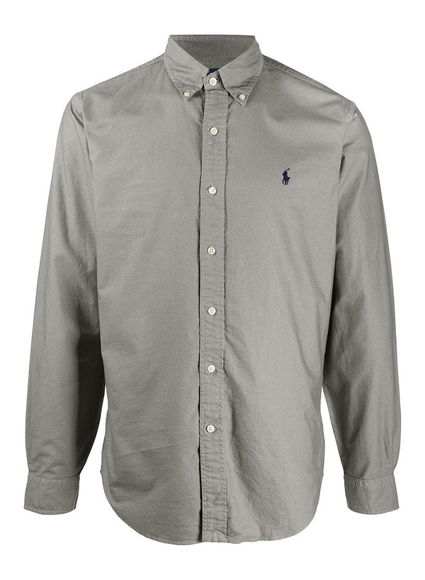ralph lauren polo long sleeve sports shirt perfect grey aw 2020